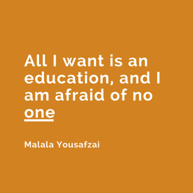 All I want is an education, and I am (1)